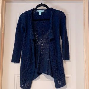 Say What Girl navy blue cardigan